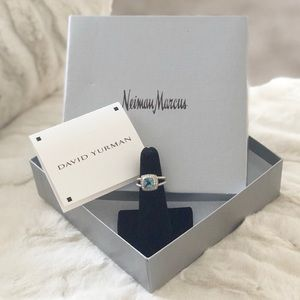 David Yurman Petite Albion Ring. Topaz. Size 5